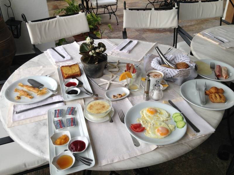 Patmos Petra Hotel and Suites breakfast